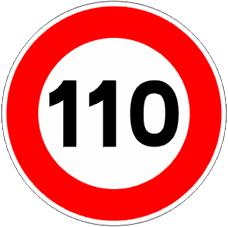 Hoy a las 6:00 ha entrado en vigor la limitación general de velocidad a 110km/h