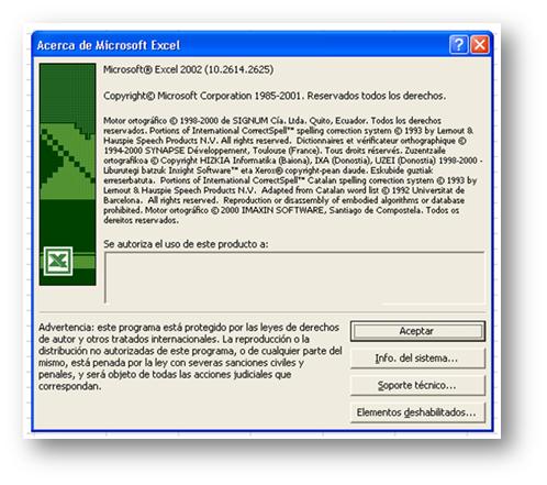 La instalación del Excel 2002 se hacía en un plis plas, eso sí.