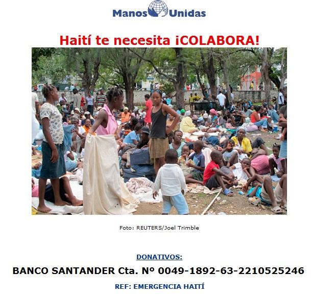 Ayuda para las víctimas del terremoto en Haití