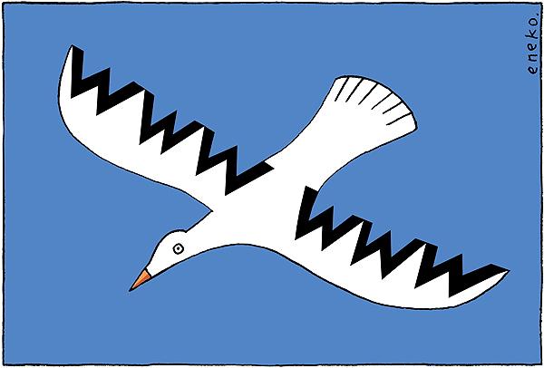 Dibujo de Eneko que se ha convertido en la imágen del manifiesto en defensa de los derechos fundamentales en internet