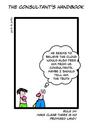 Humor sobre la nube y los consultores