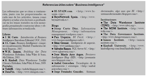 "El blog ""Business Intelligence fácil"" está considerado como una de las principales referencias útiles sobre Business Intelligence"