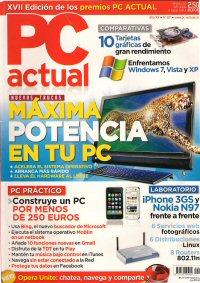 Revista PC ACTUAL, número 221, con comparativa de Windows 7, Vista y XP
