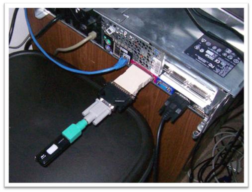 Un USB conectado a un puerto paralelo... Parecía una buena idea...